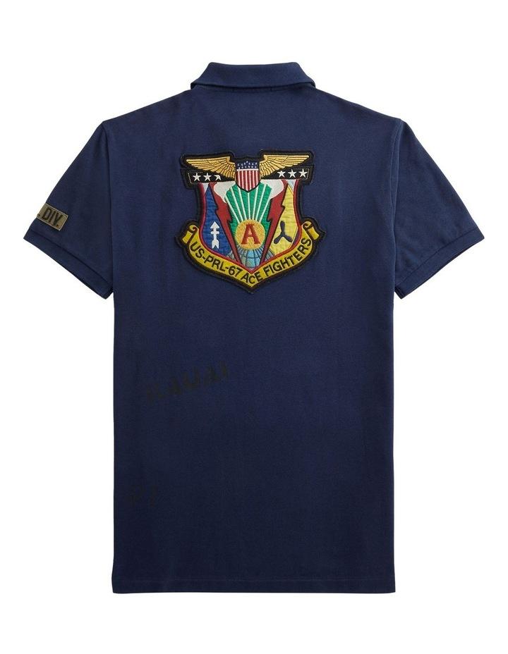 Custom Slim Fit Camo Mesh Polo Shirt image 4