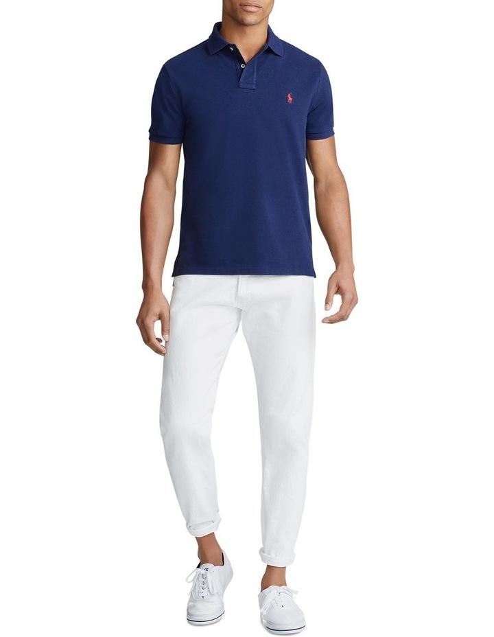 Custom Slim Fit Mesh Polo Shirt image 3