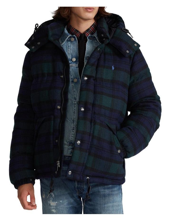 Tartan Wool-Blend Down Jacket image 1