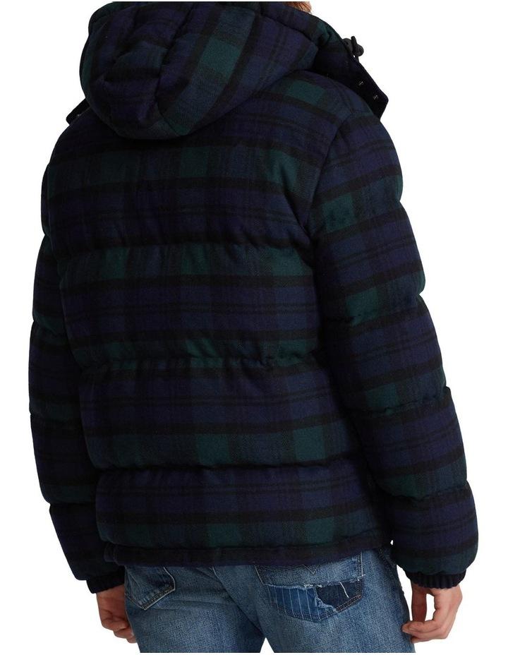 Tartan Wool-Blend Down Jacket image 2