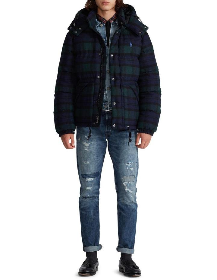 Tartan Wool-Blend Down Jacket image 3