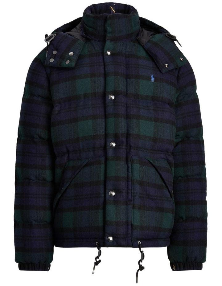 Tartan Wool-Blend Down Jacket image 4