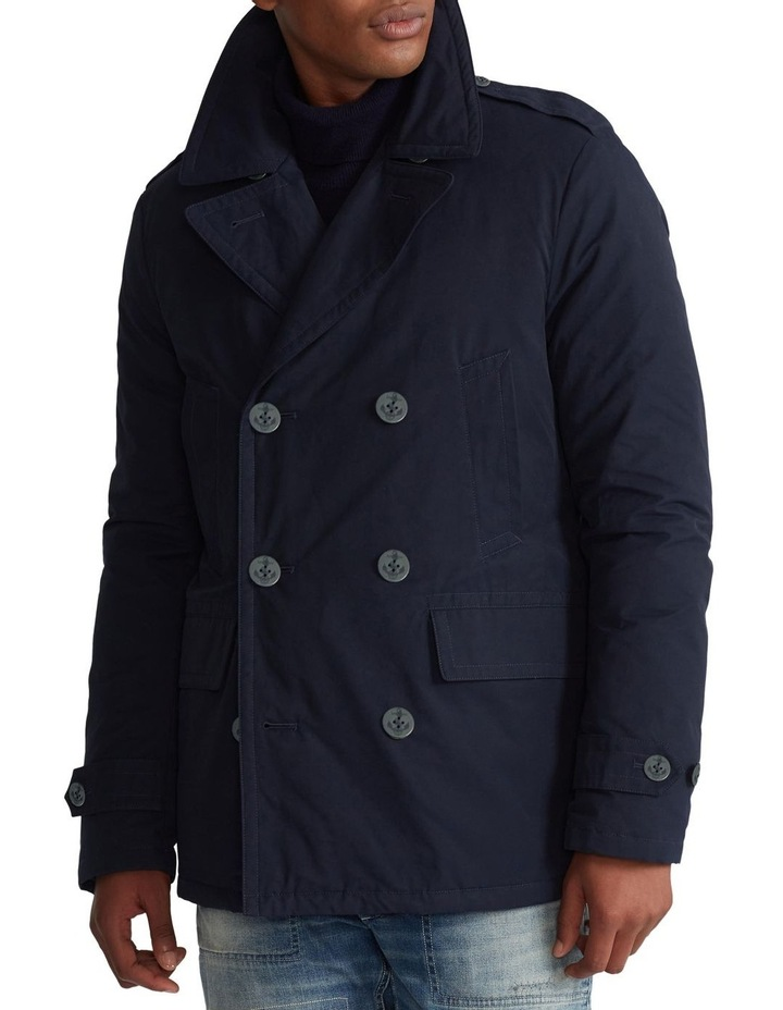 Down-Filled Twill Peacoat image 1