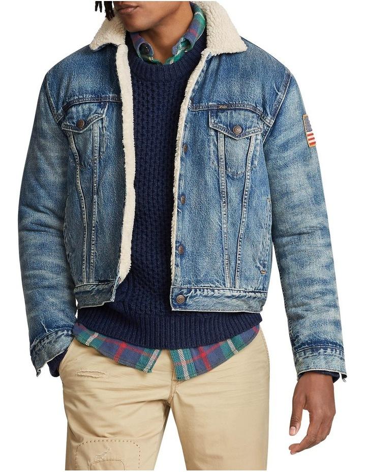 Fleece-Lined Denim Jacket image 1