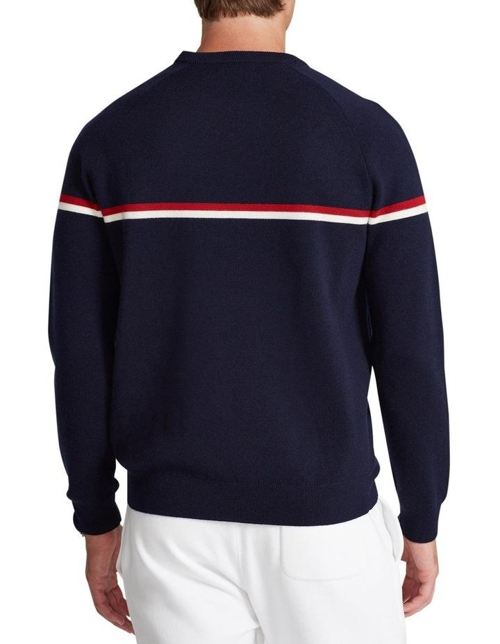 Shield-Patch Striped Wool Sweater image 2