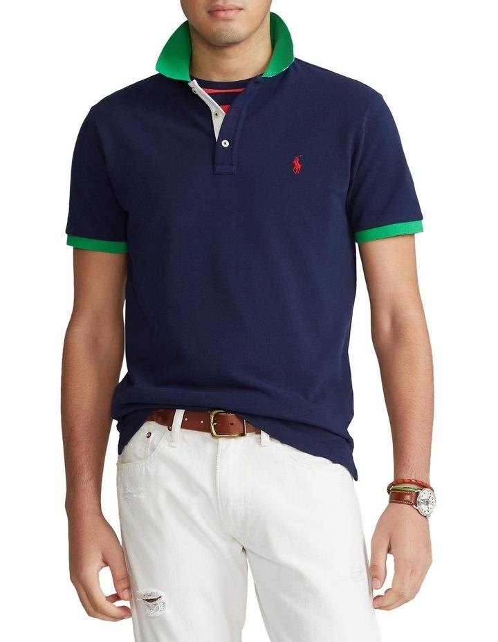 Custom Slim Fit Mesh Polo Shirt image 1