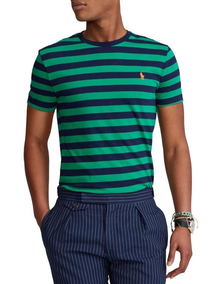 Custom Slim Fit Striped Crewneck T-Shirt image 1