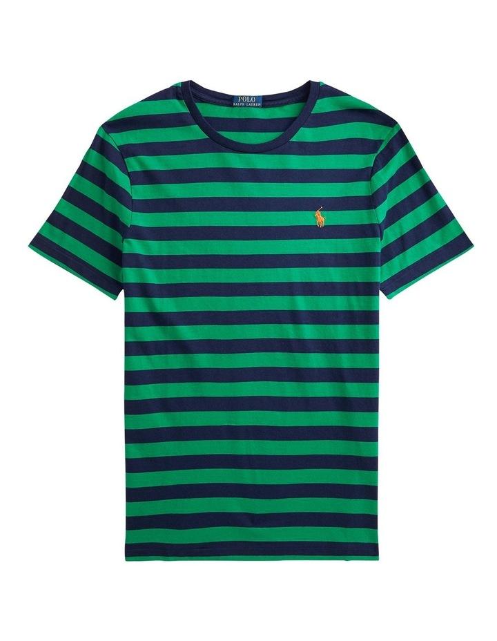 Custom Slim Fit Striped Crewneck T-Shirt image 4