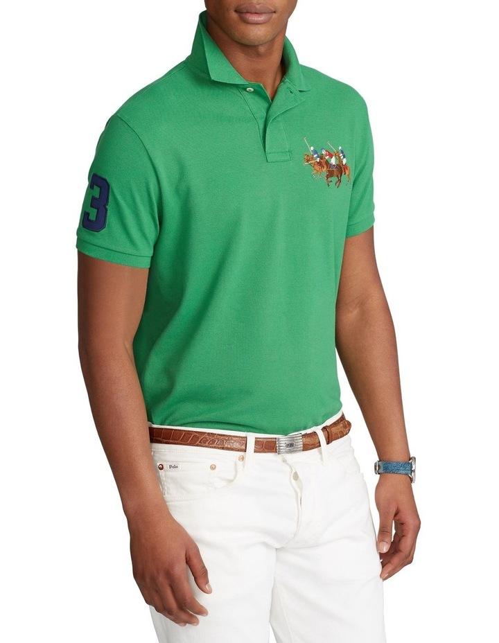 Custom Slim Fit Triple-Pony Polo Shirt image 1
