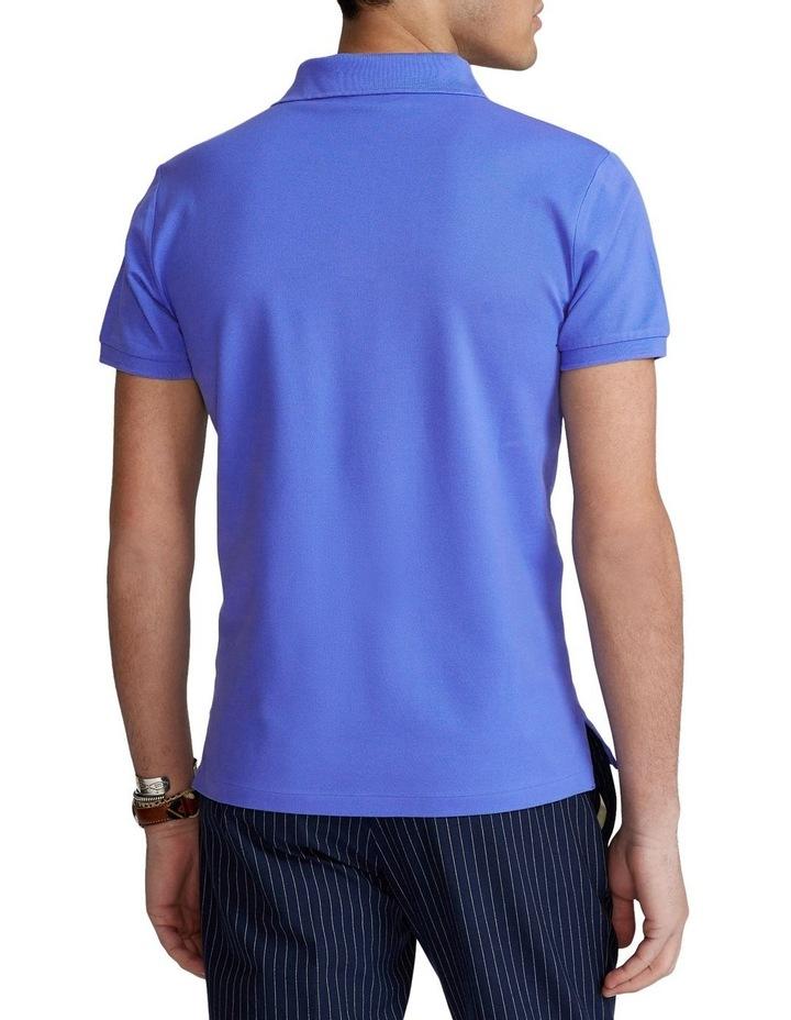 Custom Slim Fit Stretch Mesh Polo Shirt image 2