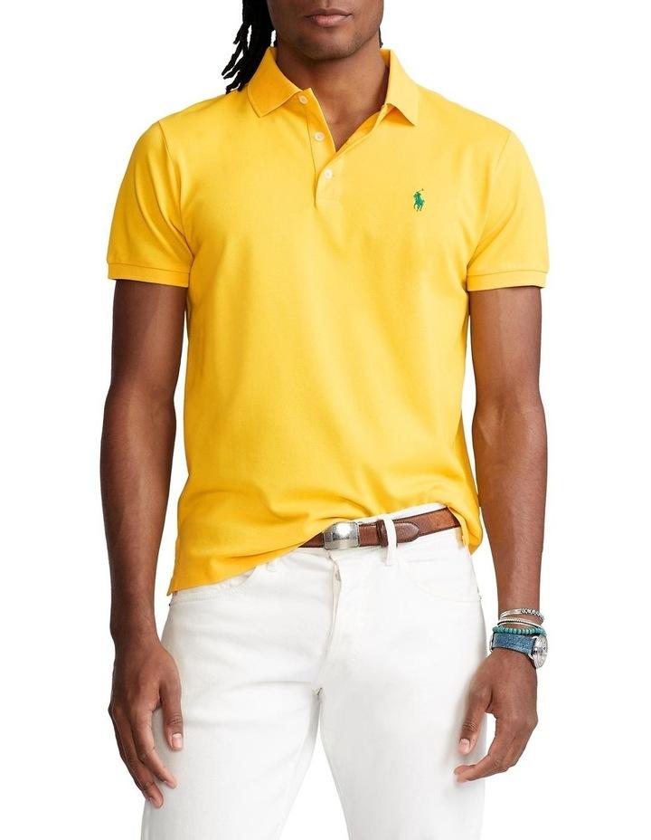Custom Slim Fit Stretch Mesh Polo Shirt image 1