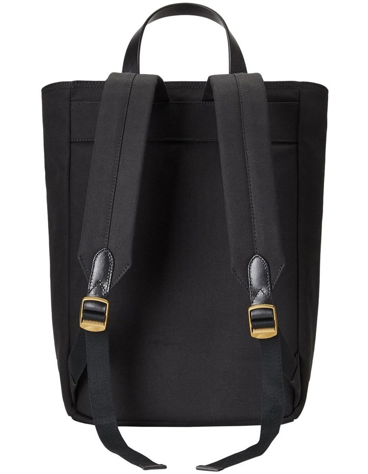 Leather-Trim Canvas Convertible Tote image 2
