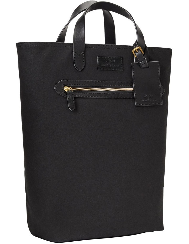 Leather-Trim Canvas Convertible Tote image 3