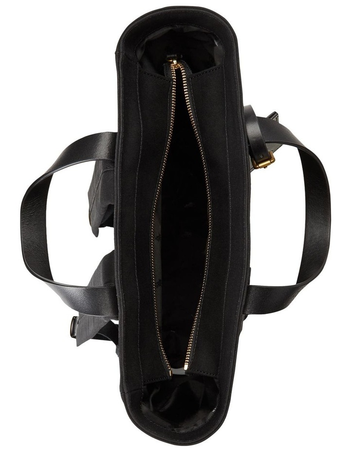 Leather-Trim Canvas Convertible Tote image 4