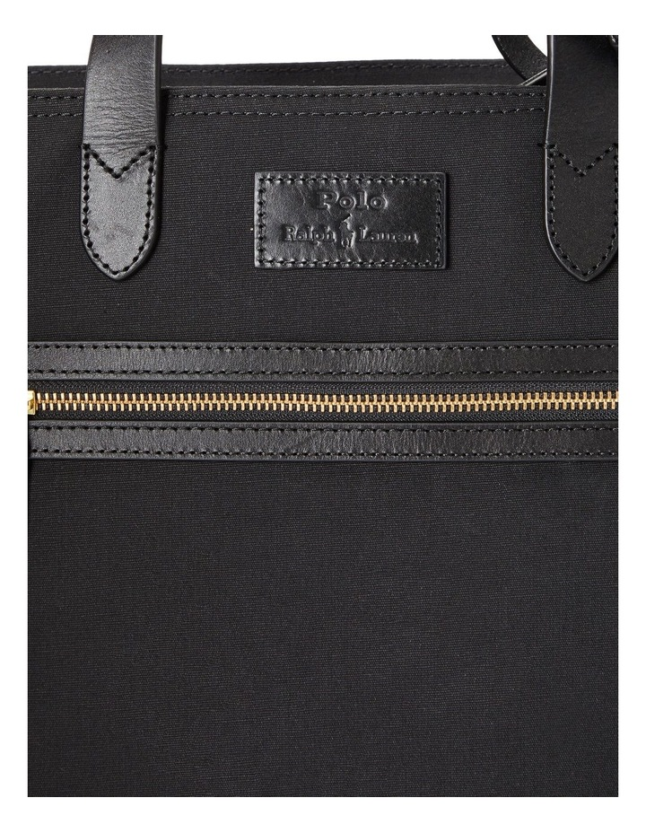 Leather-Trim Canvas Convertible Tote image 5
