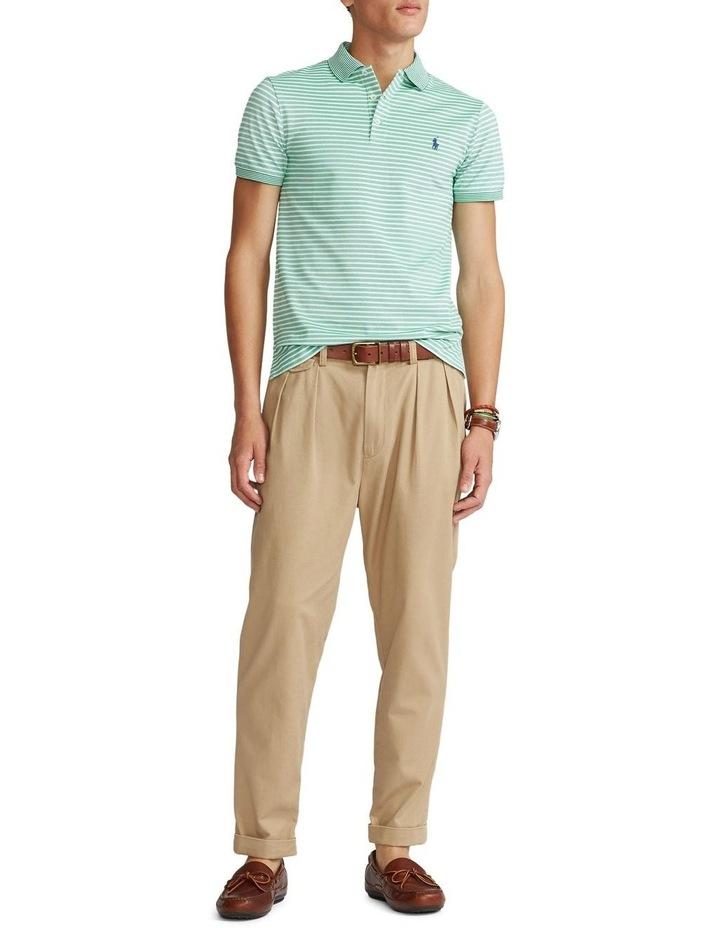 Custom Slim Fit Stretch Mesh Polo Shirt image 3