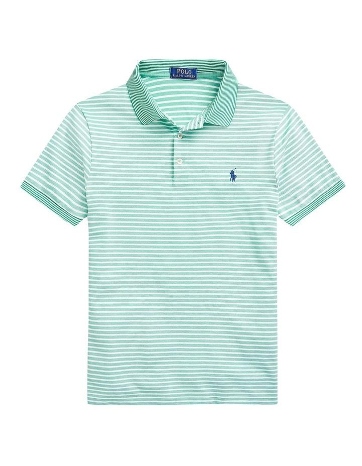 Custom Slim Fit Stretch Mesh Polo Shirt image 4