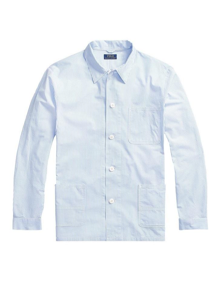 Classic Fit Seersucker Work Shirt image 4