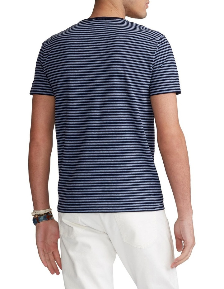 Custom Slim Fit Striped Crewneck T-Shirt image 2