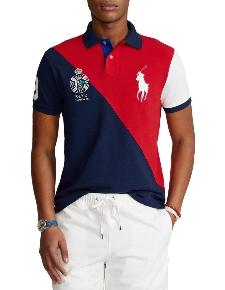 Custom Slim Fit Big Pony Mesh Polo Shirt image 1