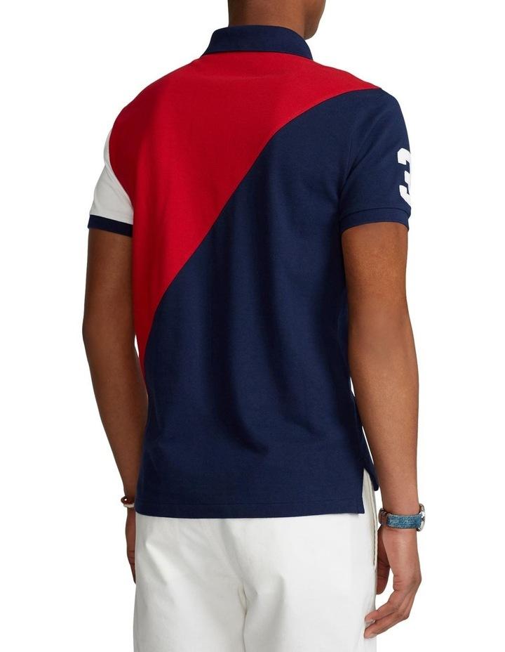 Custom Slim Fit Big Pony Mesh Polo Shirt image 2