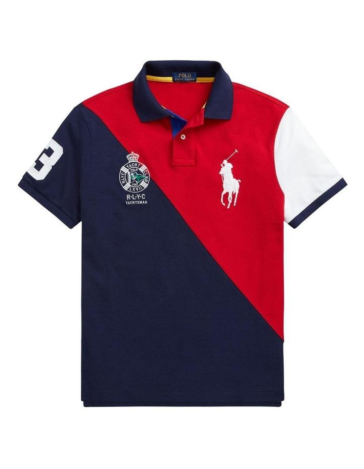 Custom Slim Fit Big Pony Mesh Polo Shirt image 4