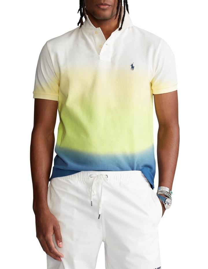 Custom Slim Fit Dip-Dyed Mesh Polo Shirt image 1