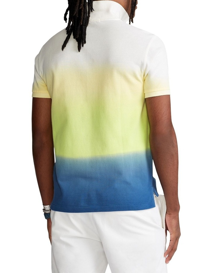 Custom Slim Fit Dip-Dyed Mesh Polo Shirt image 2