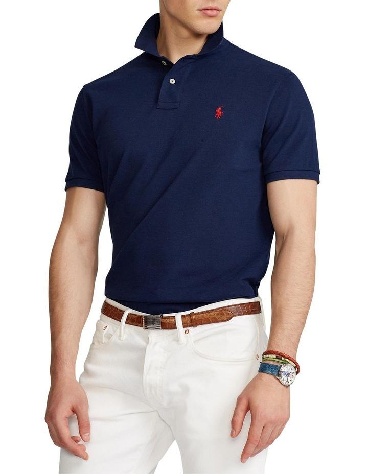 Custom Slim Fit Crest Mesh Polo Shirt image 1