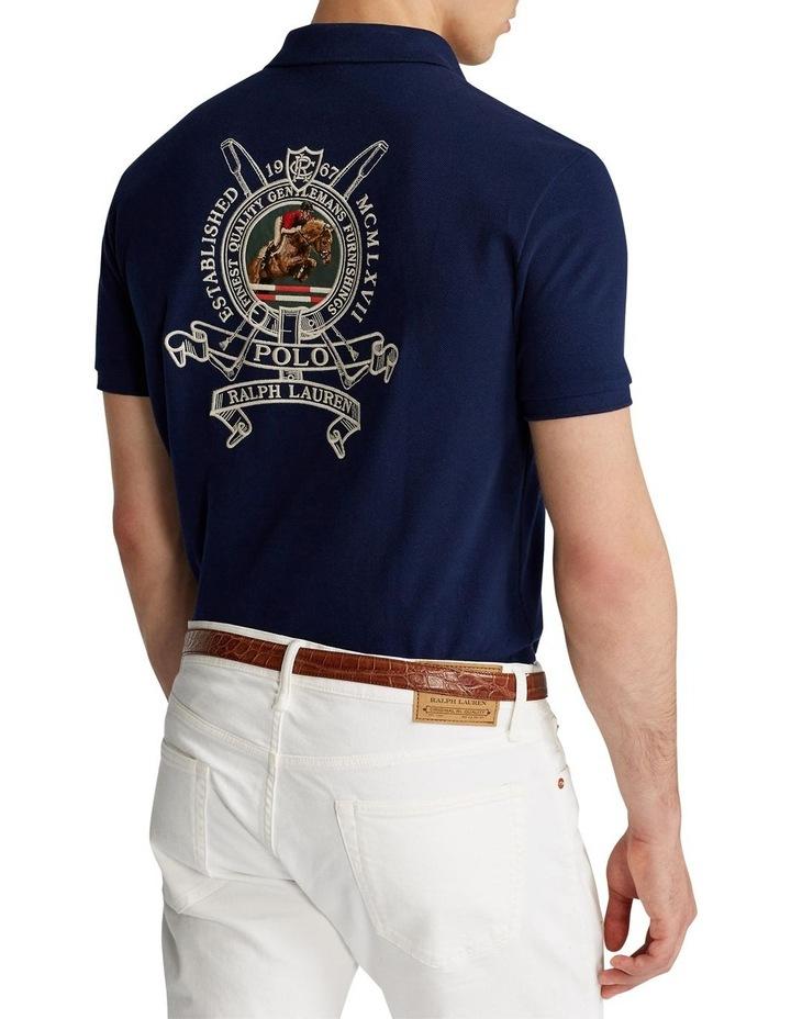 Custom Slim Fit Crest Mesh Polo Shirt image 2