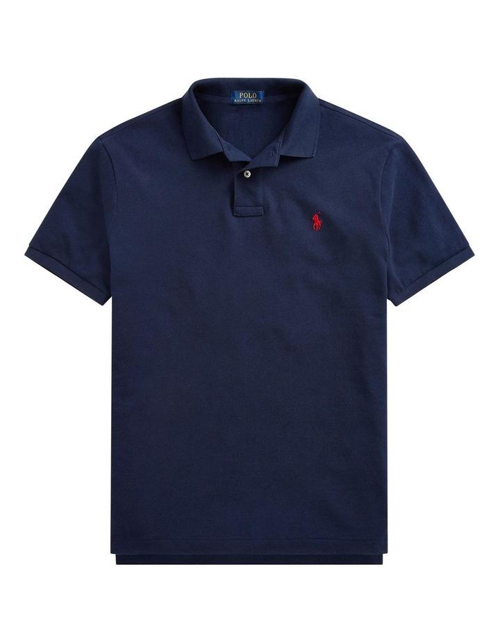 Custom Slim Fit Crest Mesh Polo Shirt image 4