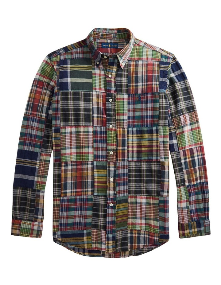 Classic Fit Patchwork Madras Shirt image 1