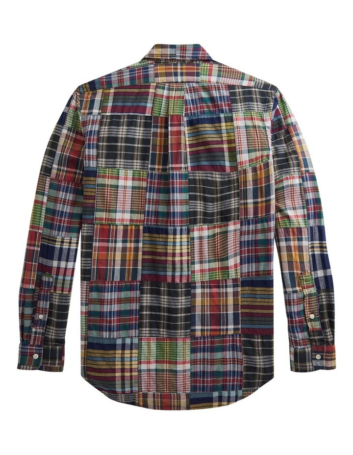 Classic Fit Patchwork Madras Shirt image 2