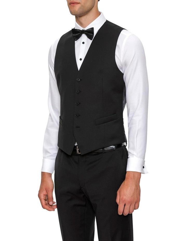 Slim Fit Black Mighty Vest F34087 image 2