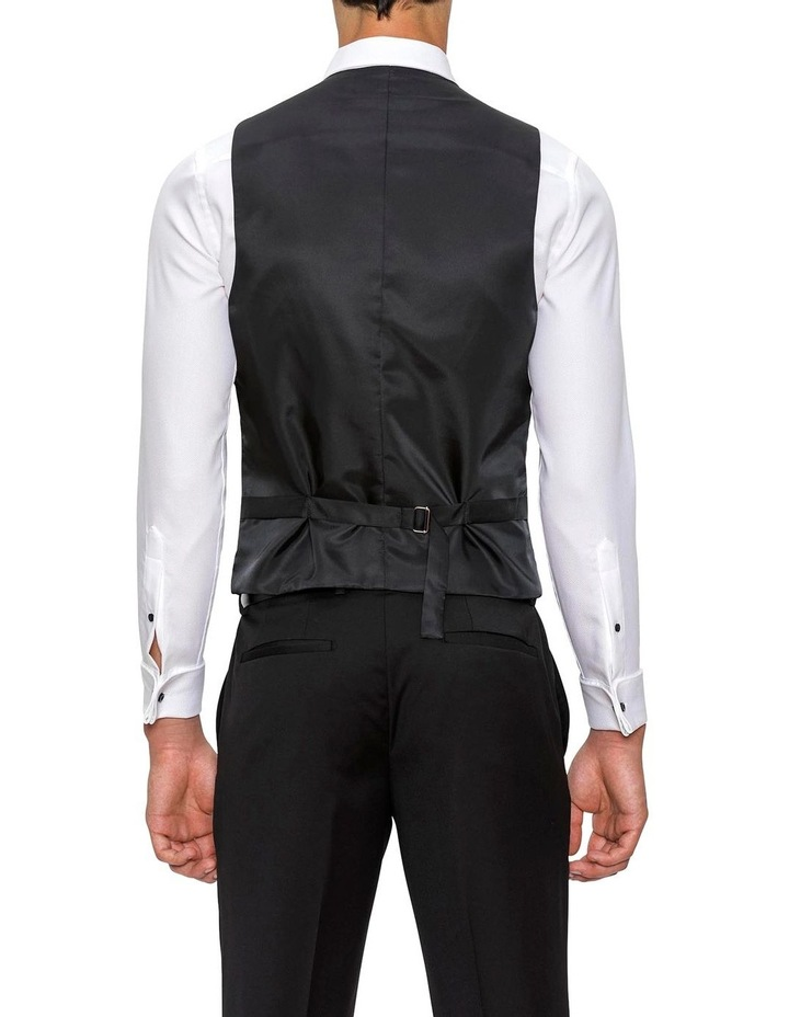 Slim Fit Black Mighty Vest F34087 image 3