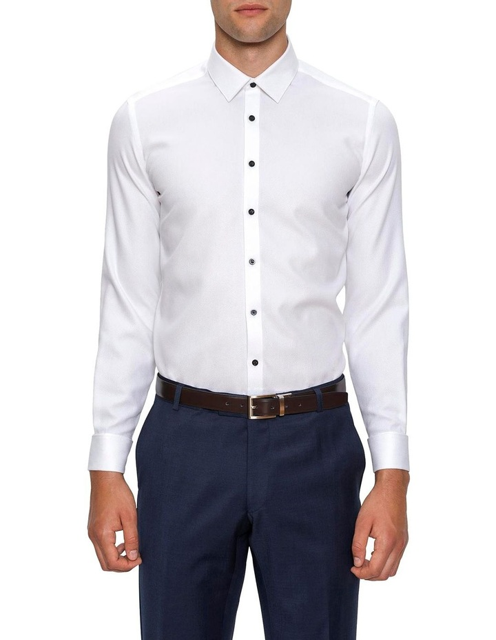 Slim Fit White Archie Shirt image 1