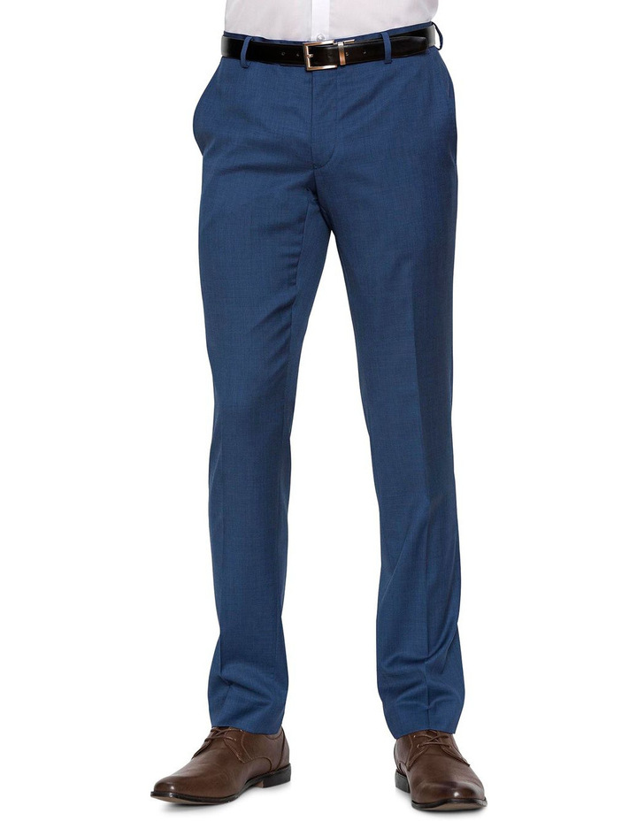 Slim Fit Blue Caper Trouser image 1