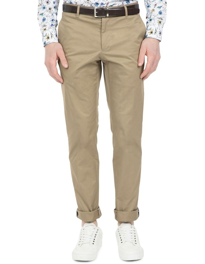 Slim Fit Justice Taupe Chino image 1