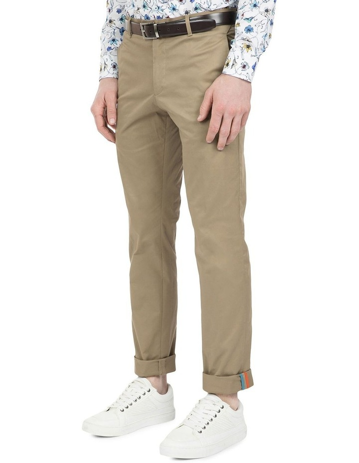 Slim Fit Justice Taupe Chino image 2