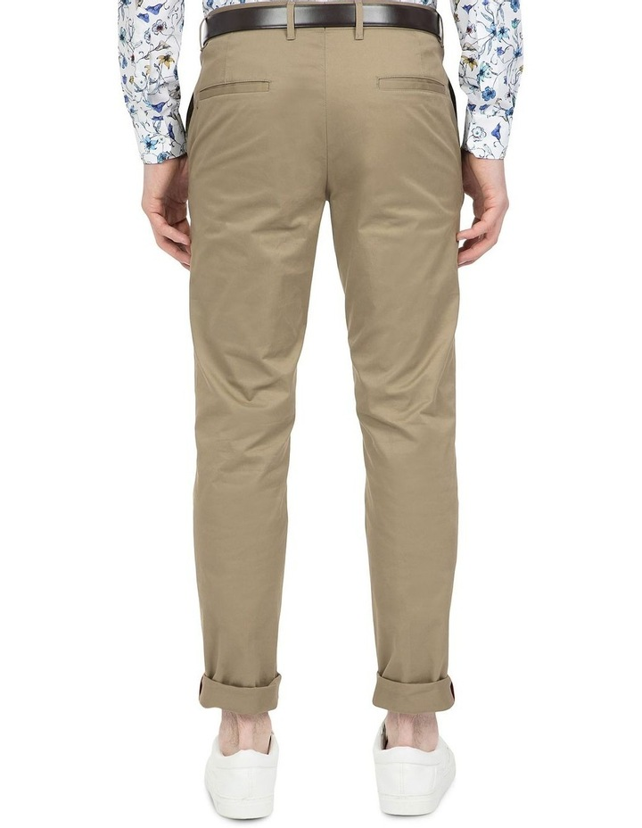 Slim Fit Justice Taupe Chino image 3