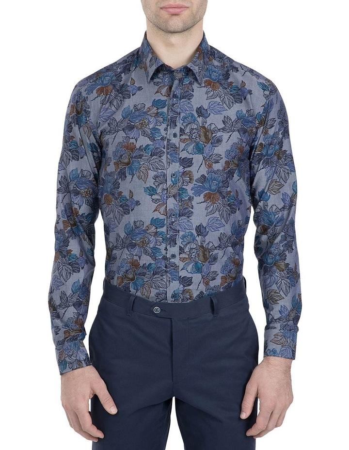 Denim Floral Print Cotton Flame Shirt image 1