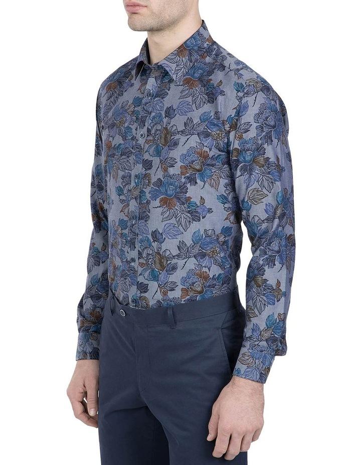 Denim Floral Print Cotton Flame Shirt image 2