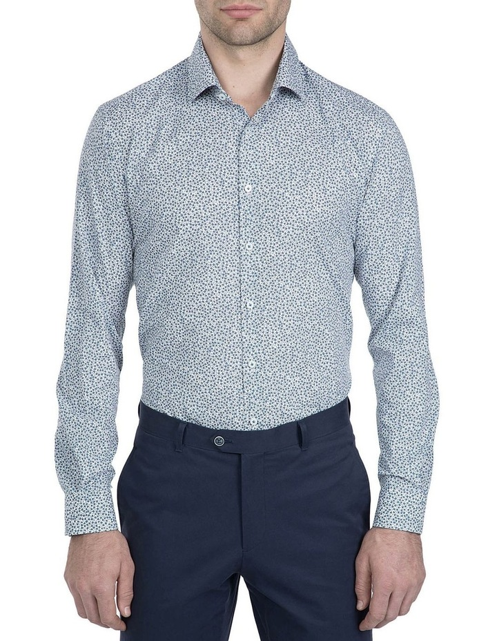 Slim Fit White Motion Shirt image 1