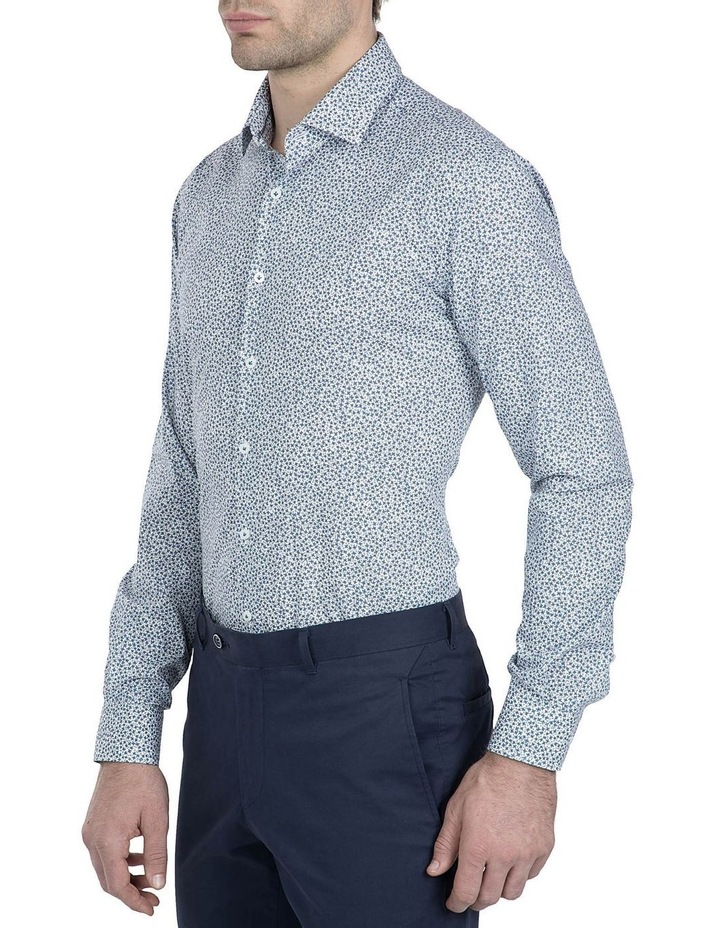 Slim Fit White Motion Shirt image 2