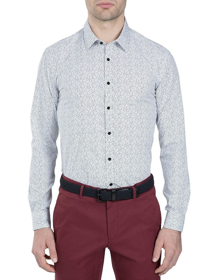 Black and White Print Cotton Flame Shirt image 1