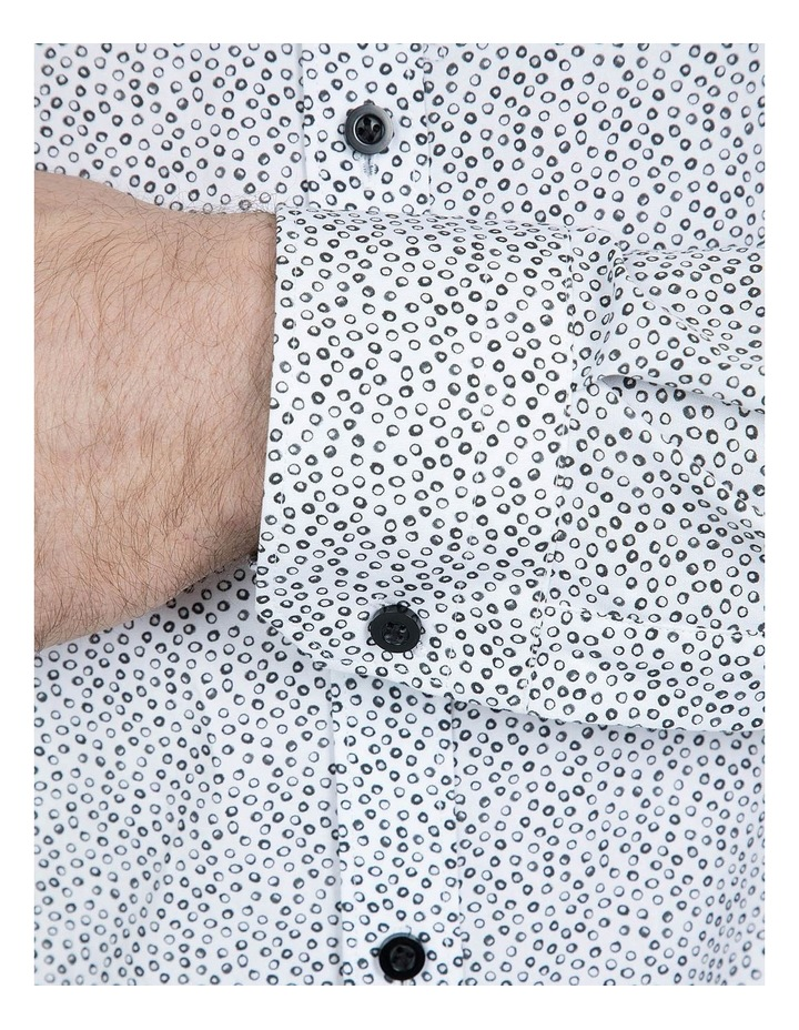 Black and White Print Cotton Flame Shirt image 4