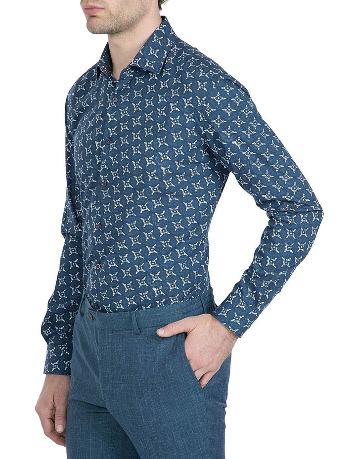 Slim Fit Indigo Motion Shirt image 2
