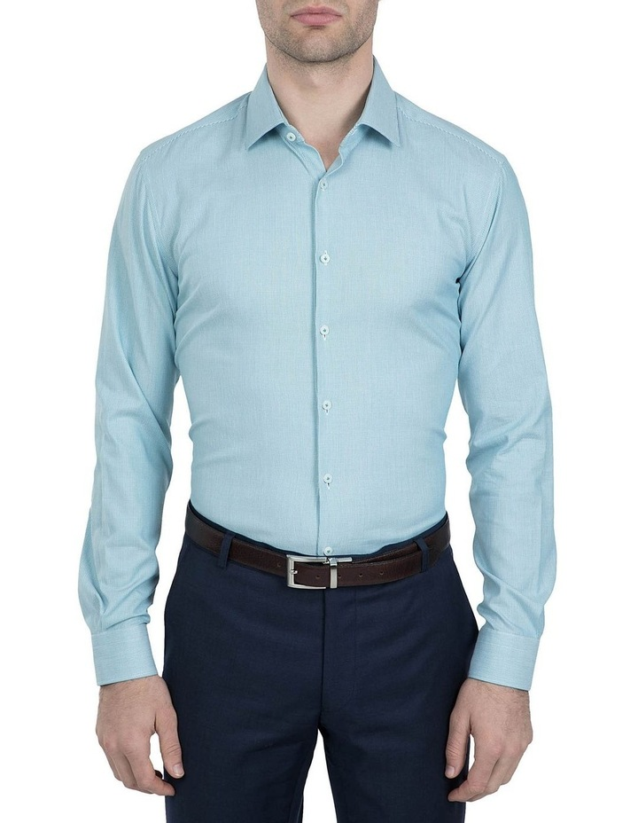 Slim Fit Teal Motion Shirt image 1