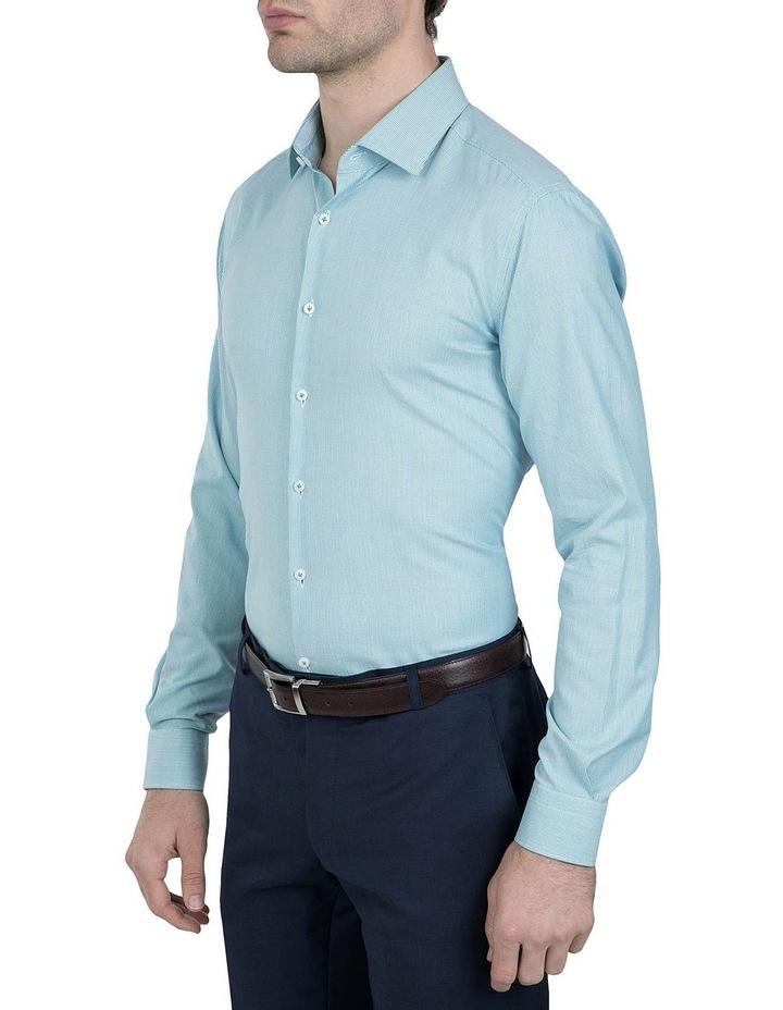 Slim Fit Teal Motion Shirt image 2
