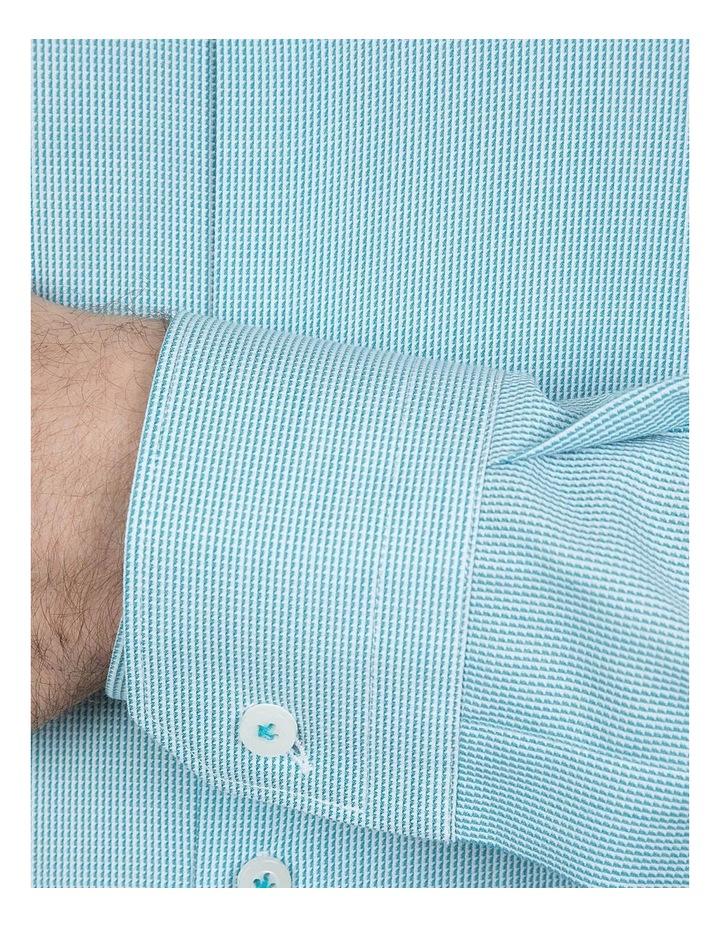 Slim Fit Teal Motion Shirt image 4